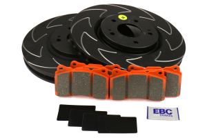 EBC Brakes S7 Front Brake Kit Orangestuff Pads and BSD Rotors - Mitsubishi Evo 8/9 2003-2006