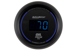 Autometer Cobalt Oil Pressure Gauge Digital Blue LED 52mm - Universal