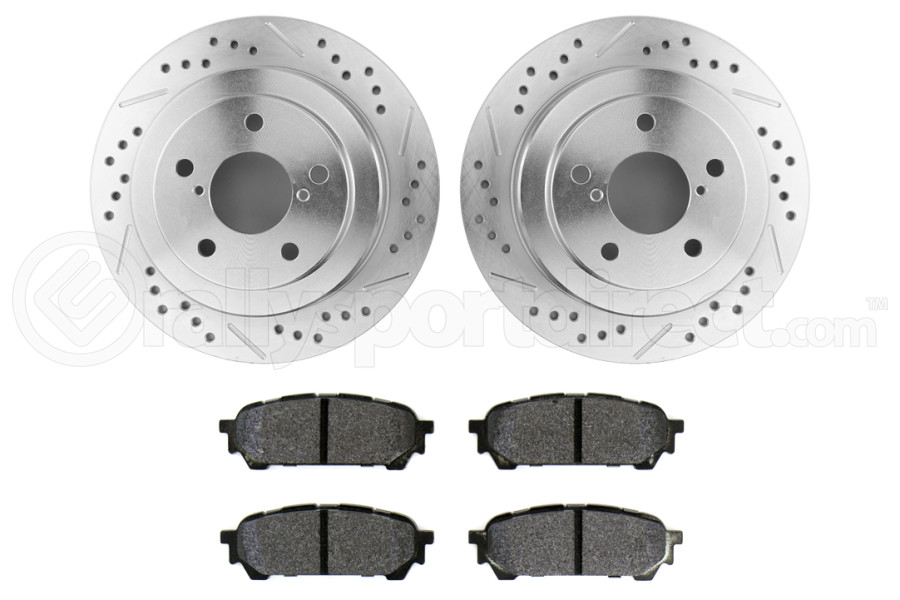 Hawk Performance Rotors w/ HPS 5.0 Pads Kit Rear (Part Number:HK5139.452B)