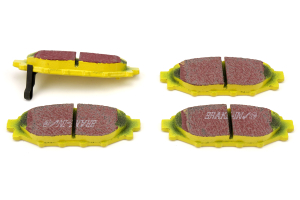 EBC Brakes Yellowstuff Street And Track Rear Brake Pads - Subaru Models (inc. 2013+ BRZ / 2009+ Forester)