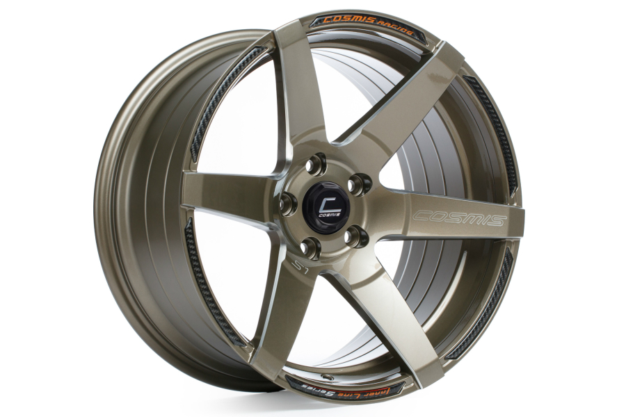 Cosmis Racing Wheels S1 18x10.5 +5 5x114.3 Bronze w/ Milled Spokes - Universal