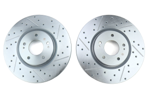 Stoptech C-Tek Sport Drilled and Slotted Front Rotor Pair - Mitsubishi Evo 8/9 2003-2006