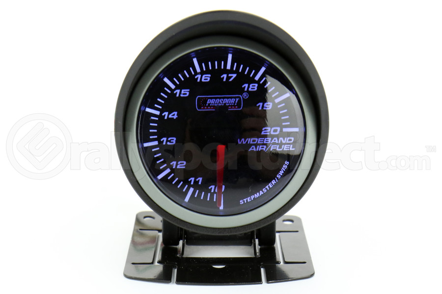 ProSport Wideband Air Fuel Ratio Gauge w/O2 Sensor Blue/White 52mm (Part Number:216SMWBAFR-WO-SF)