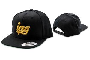IAG Snapback Hat w/ IAG Gold Script - Universal