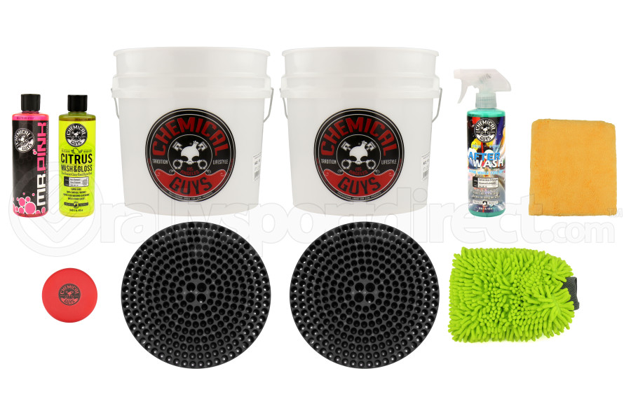 Chemical Guys Best Two Bucket Wash and Dry Kit (11pc) Black