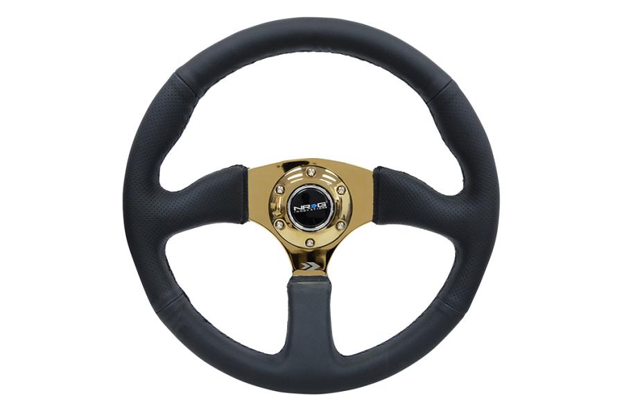 NRG Reinforced Steering Wheel 350mm Comfort Gold - Universal