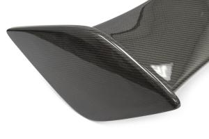 OLM Silverline Carbon Fiber S Style Spoiler w/ Black Bases - Subaru WRX / STI 2015+