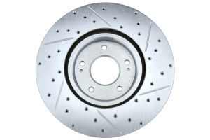 Stoptech C-Tek Sport Drilled and Slotted Rotor Single Front Right - Mitsubishi Evo 8/9 2003-2006