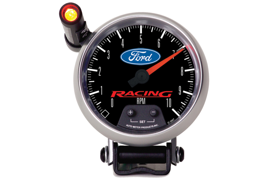 Autometer Ford Racing Pedestal Tachometer Gauge w/ Shift Light 3-3/4in - Universal