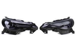Spec-D Projector Headlights Glossy Black Smoked Lens - Scion FR-S 2013-2016