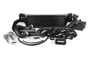 PERRIN Front Mount Intercooler Kit Black Piping/Black Core ( Part Number:PER2 PSP-IP-438-BBB)