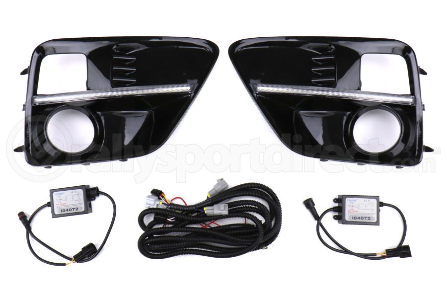 SubiSpeed Switchback Turn Signal JDM WRX S4 Style DRL Fog Light Bezels - Subaru WRX / STI 2015-2017