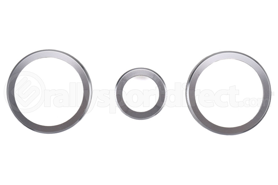 GCS Anodized Aluminum Climate Control Trim Silver - Scion FR-S 2013-2016 / Subaru BRZ 2013+ / Toyota 86 2017+