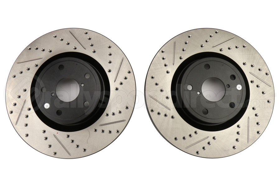 Stoptech Drilled and Slotted Rotor Pair Front (Part Number:127.47022-GRP)