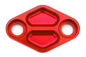 Nameless Performance Air Pump Delete Plates Red (Part Number: )