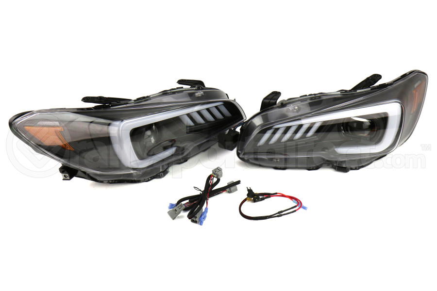 SubiSpeed LED Headlights DRL and Sequential Turn Signals w/ Hardware Kit (Part Number:SS15WRXHL-SQ-KIT)