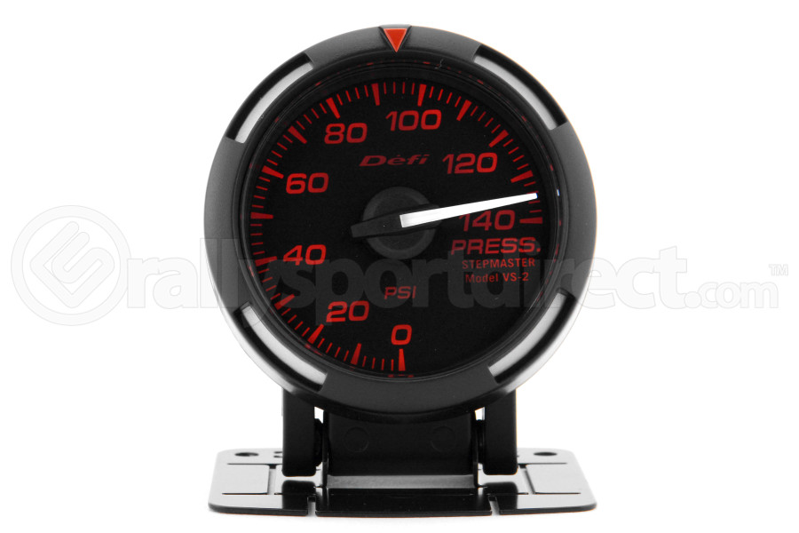 Defi Red Racer Pressure Gauge Imperial 52mm 140 PSI White Needle (Part Number:DF06607)