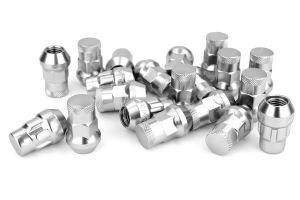 Muteki SR35 16+4 Closed Ended Silver Lug Nuts 35mm 12x1.50 (Part Number: 32926SP)