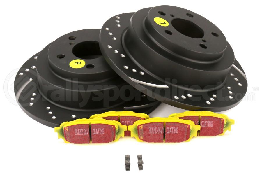 EBC Brakes S5 Rear Brake Kit Yellowstuff Pads and 3GD Rotors - Subaru Models (inc. 2003-2005 WRX / 2003-2008 Forester)