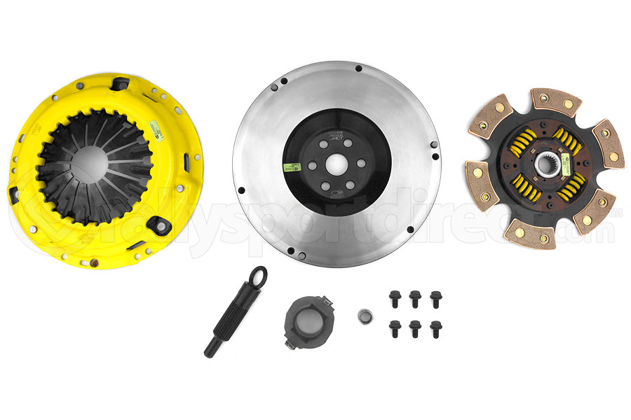 ACT Heavy Duty Performance 6-Puck Disc Clutch Kit StreetLite Flywheel Included (Part Number:ZX5-HDG6)