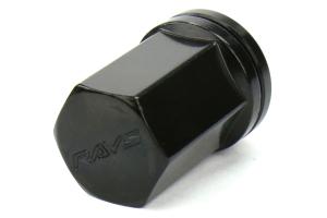 Volk Racing 2 Piece Double Locking Lug Nut Kit 12X1.25 Black ( Part Number:VOL W19DL12125B)
