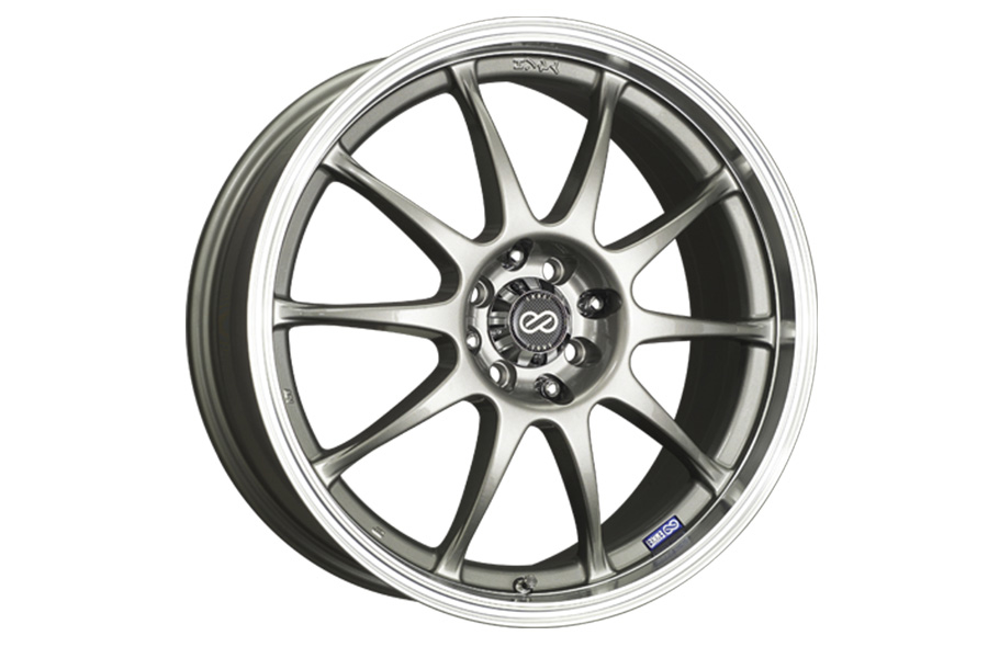 Enkei J10 5x112/114.3 Silver w/ Machined Lip - Universal