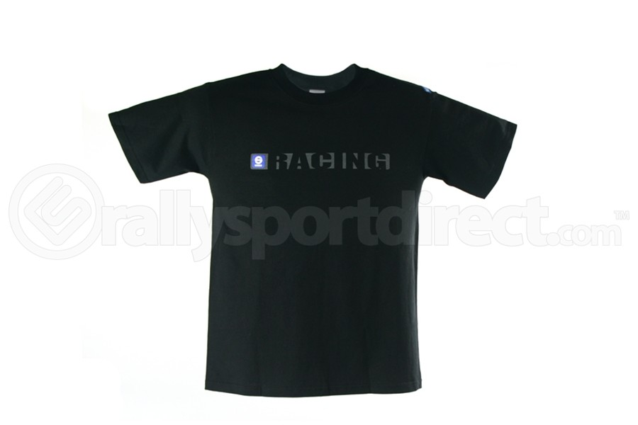 Sparco Racing T-Shirt (Black / White) (Part Number:SP02100)