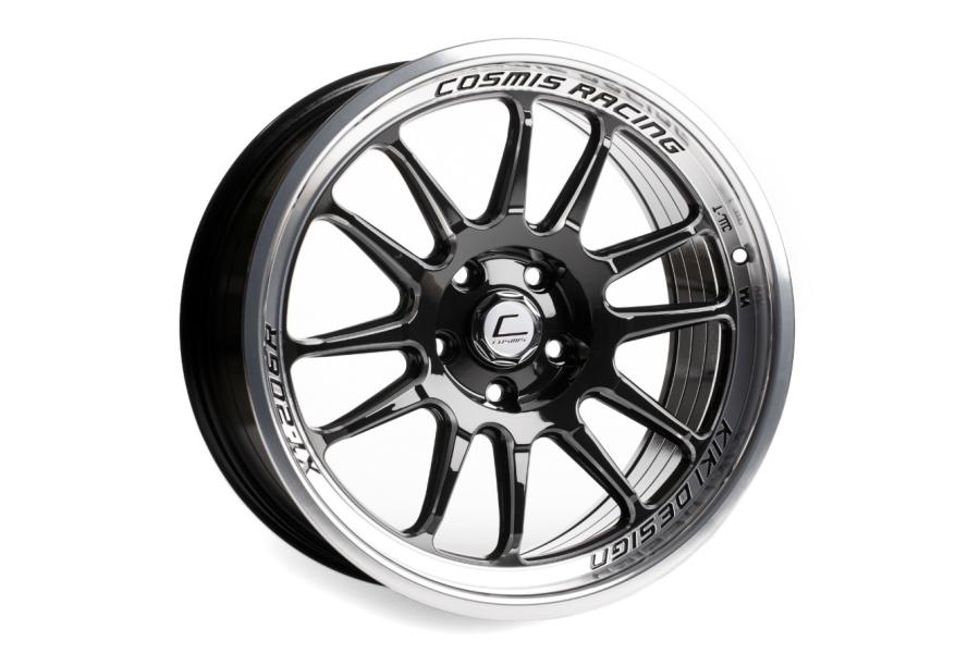 Cosmis Racing Wheels XT-206R 18x11 +8 5x114.3 Black w/ Machined Lip - Universal