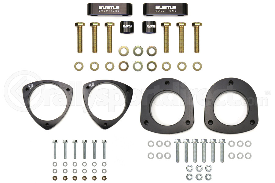 Subtle Solutions 1in Aluminum Front and Rear Spacer Kit w/ Alignment Kit - Subaru Models (inc. 2002-2007 WRX / 2004-2007 STI)