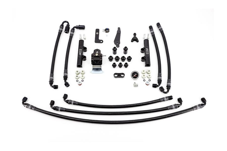 IAG PTFE Flex Fuel System Kit w/ Lines, FPR, Fuel Rails - Subaru WRX 2008 - 2014 / STI 2008 - 2020