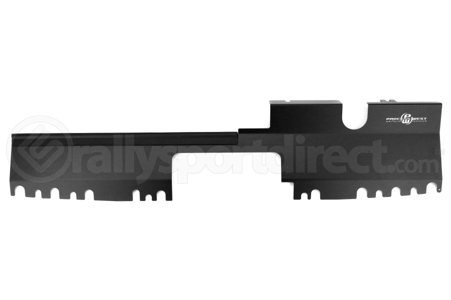Process West Radiator Cover Black Factory Intake ( Part Number:PRW PWED03B)