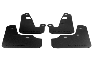 Rally Armor Basic Mud Flaps Black Logo - Mitsubishi Lancer 2007-2012