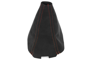 JPM Coachworks Shift Boot Black Alcantara Red Stitching ( Part Number: 1031A40-R)