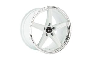 Cosmis Racing Wheels R5 18x9.5 +25 5x120 White w/ Machined Lip - Universal