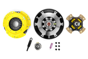 ACT Heavy Duty Sprung 4-Puck Disc Clutch Kit Flywheel Included ( Part Number:ACT SB7-HDG4)