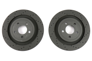 Hawk Talon Cross Drilled and Slotted Rear Rotor Pair - Ford Mustang w/ PP 2015-2017