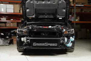 GrimmSpeed Front Mount Intercooler Kit Black Core w/ Black Piping - Subaru STI 2015 - 2020