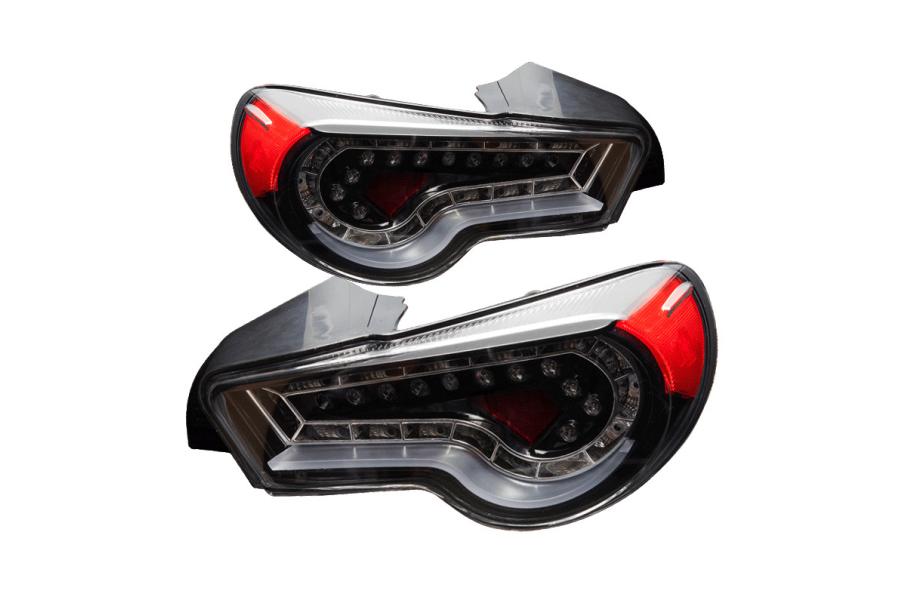 Winjet LED Tail Lights Glossy Black / Clear - Subaru BRZ 2013-2016
