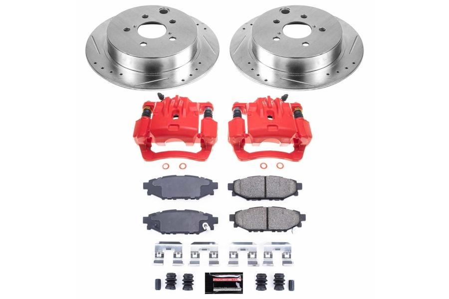 Power Stop Z23 Evolution Coated Brake Kit w/ Calipers Rear - Subaru Models (inc. 2012-2019 Impreza / 2014-2018 Forester)