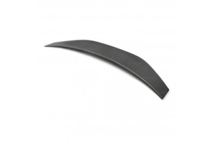 Rexpeed VAB Paint Matched Duckbill Trunk Spoiler FRP w/Carbon Strip - Subaru WRX / STI 2015+