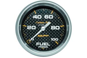 Autometer Carbon Fiber Fuel Pressure Gauge Electrical 2-5/8in - Universal
