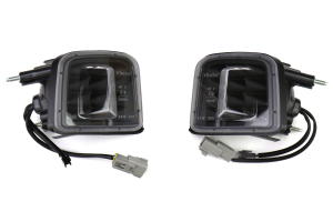 OLM Turn Signal Housing Clear Lens Matte Black Base (Part Number: OLM-15WRX-TS-MB)