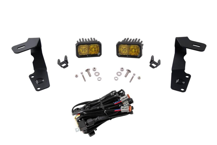 Diode Dynamics Stage Series 2 Inch Ditch Light Kit Sport Yellow Combo - Subaru WRX / STI 2015 - 2020