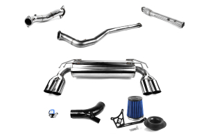 COBB Tuning Stage 3 Black Power Package with Quad Tip Exhaust - Mitsubishi Evo X 2008-2015