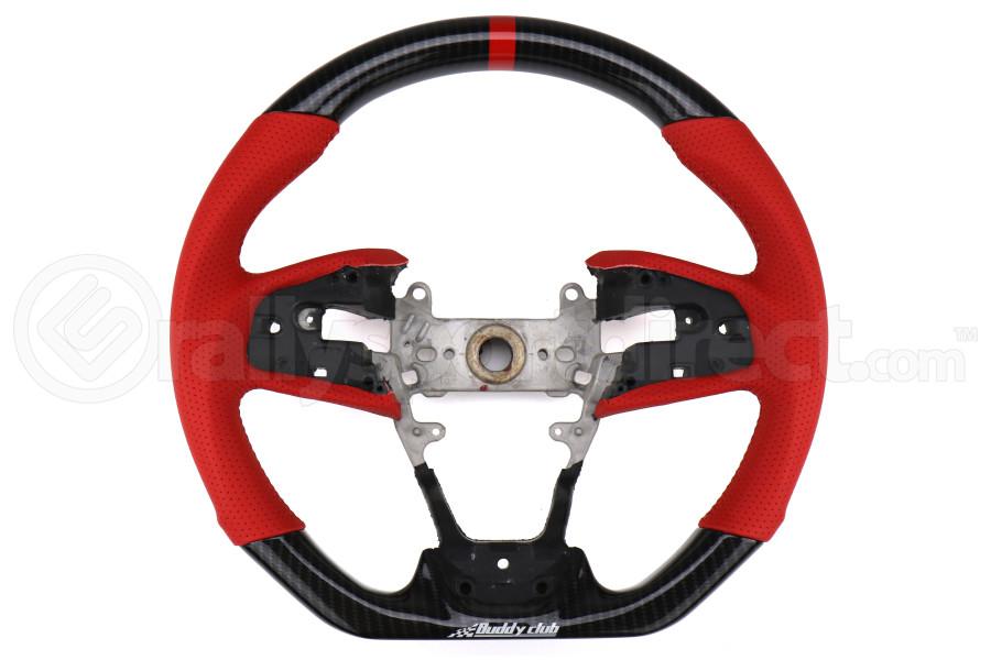 Buddy Club Sport Time Attack Edition Steering Wheel - Honda Civic Models (Inc. 2017+ SI / 2017+ Type R)