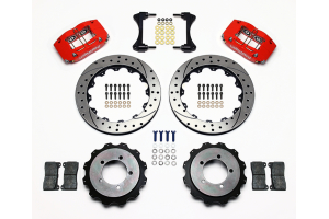 Wilwood Dynapro Radial 13in Rear Kit Drilled / Slotted Red - Mitsubishi Evo 8/9 2003-2006