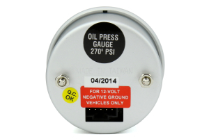 ProSport Digital Oil Pressure Electrical w/Sender Blue 52m ( Part Number:PRS PSOPLCD-NEW)