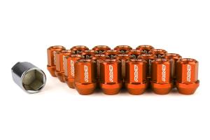 Volk Racing Dura-Nut L32 Straight Type M12X1.50 Lock and Nut Set Orange ( Part Number: WDURA3212150O)