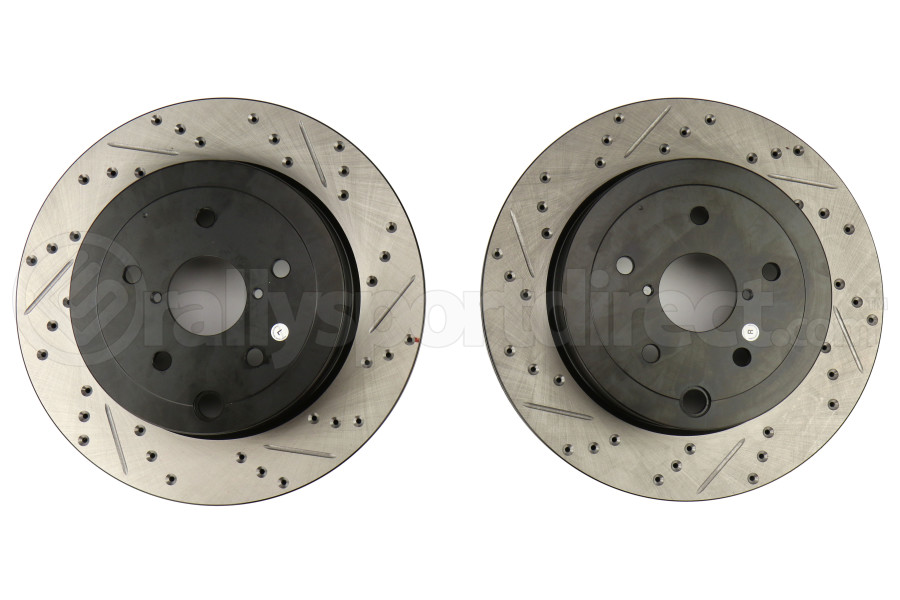 Stoptech Drilled and Slotted Rotor Pair Rear (Part Number:127.47030-GRP)