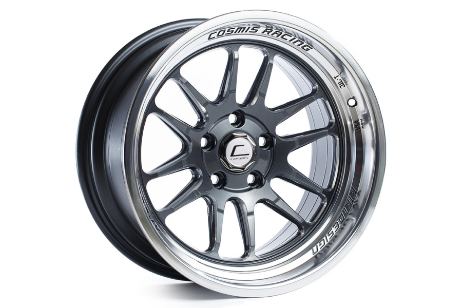 Cosmis Racing Wheels XT-206R 17x8 +30 5x100 Gunmetal w/ Machined Lip - Universal